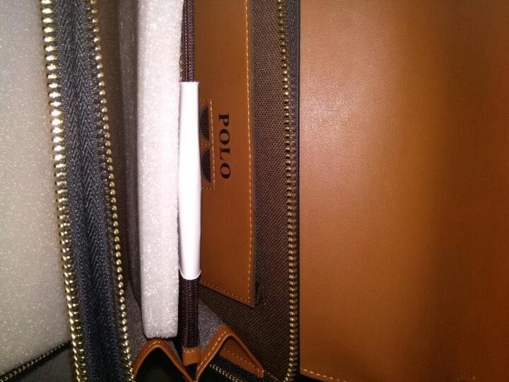POLO 新款男士手包牛皮大容量手抓包多功能手拿包52001 52001-1大款黑色 晒单图