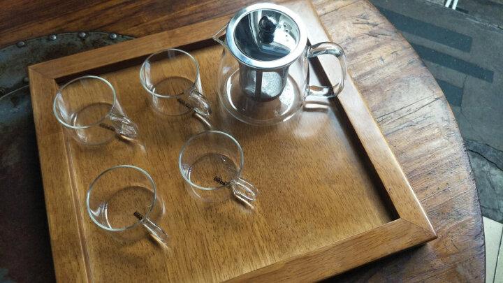 品茶忆友 茶壶耐热加厚玻璃泡茶壶 功夫茶杯不锈钢过滤沏茶壶旅行商务办公茶具套装 玻璃单壶 晒单图