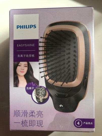 飞利浦(PHILIPS)梳子按摩梳 负离子造型梳 美发按摩梳护发必备防静电 卷直两用 粗硬细软发质HP4595/75 晒单图