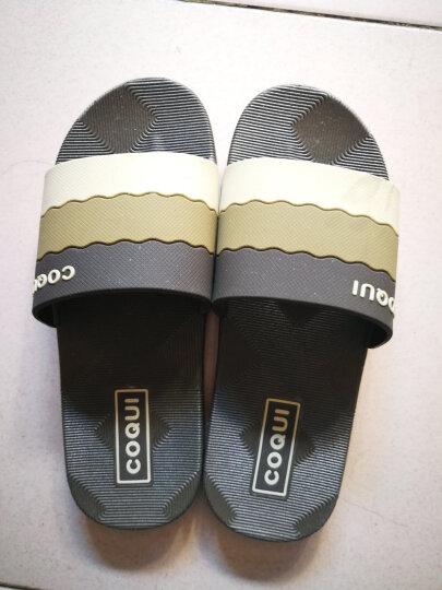酷趣coqui 浴室拖鞋情侣拖鞋渐变色家居凉拖鞋巧克力色42码LJ85492 晒单图