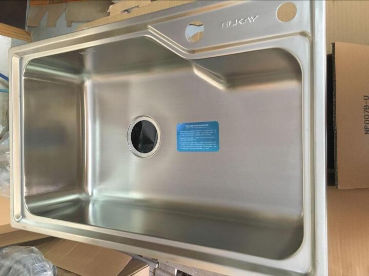 美国艾肯ELKAY 大单槽 加厚304不锈钢水槽单槽 洗菜盆洗碗池一体套餐EC-41410 不锈钢高抛龙头套餐 730*450*225mm 晒单图