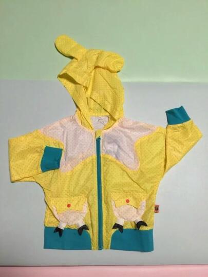 大眼睛比布(BABiBOO)女童风衣外套上衣男童外套女童秋装外套儿童连帽开衫上衣童装 黄色 110 晒单图