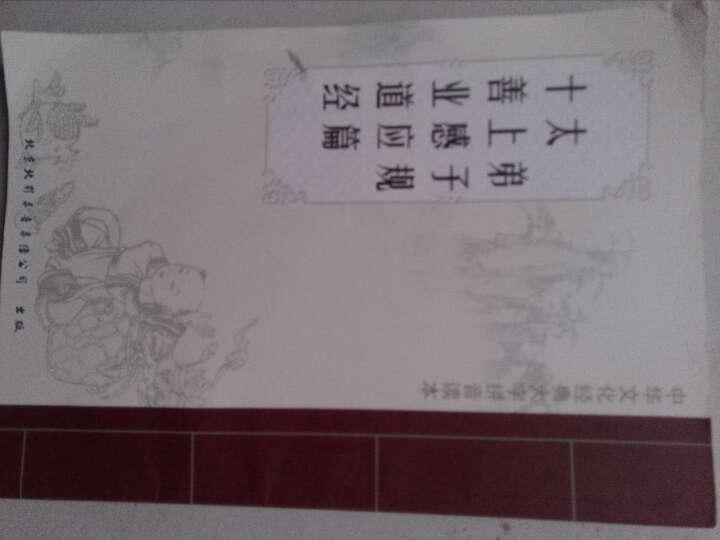 (配光盘)弟子规 太上感应篇 十善业道经 中国文化三个根读本 双色 大字拼音读诵本 晒单图