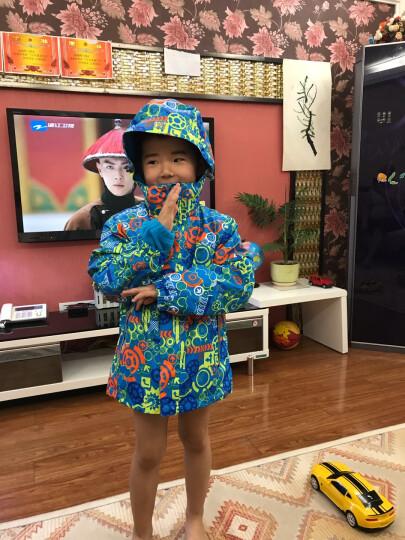 斯博兰帝 秋冬款印花儿童户外冲锋衣三合一 男童女童款保暖户外服两件套童装外套 荧光绿 160 晒单图