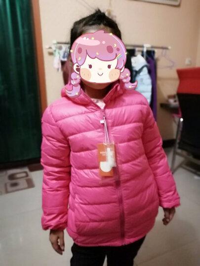 咔哇岛(kavaland) 童装儿童羽绒服轻薄款连帽宝宝轻便冬装小中大男女童外套762593ee-b 桔色 120cm 晒单图