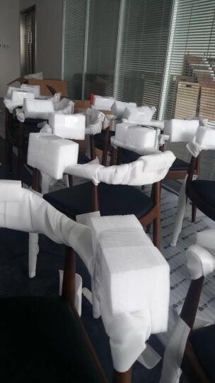 美达克 实木椅子北欧实木餐椅水曲柳木椅子餐厅椅子扶手靠背椅 水曲柳深胡桃色+真皮垫 晒单图