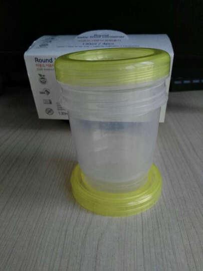 佰美 原装进口 辅食盒/杯 储奶杯 母乳保鲜袋 储奶袋 储存袋 保鲜杯/盒 220ML圆形黄色四个装 晒单图
