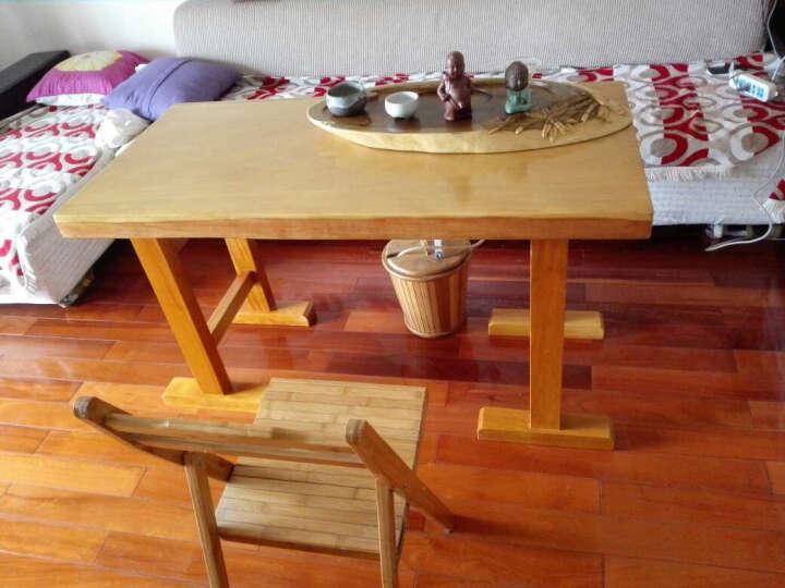 阿非利加 巴花实木大板奥坎原木老板桌 整木会议桌办公桌书桌洽谈桌 茶桌餐桌 2米大板+脚架 晒单图