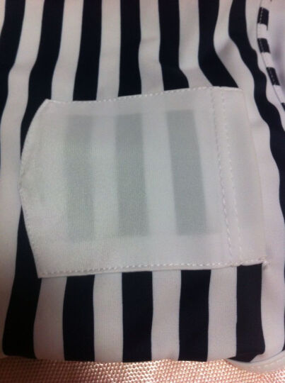 昊之浪(haozhilang) 昊之浪 泳衣女保守分体三件套游泳衣学生显瘦裙式 8430黑白条纹 XXL(105-120斤) 晒单图