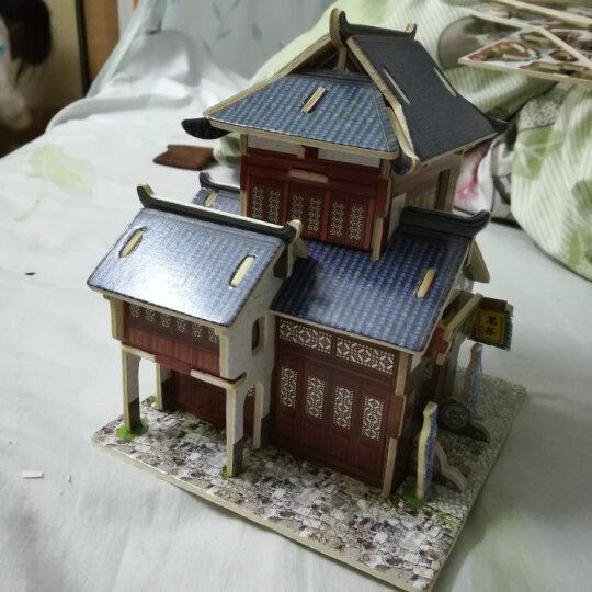 若态 3D立体拼图建筑房子DIY手工拼装木质小屋模型拼图儿童大人成年人拼图益智玩具 中国客栈F128(立体建筑拼图玩具) 晒单图
