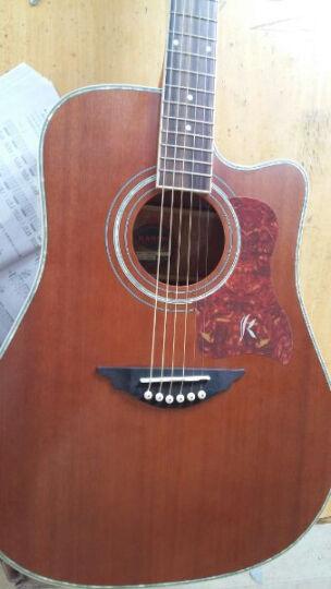 卡农(KANONG) 卡农吉他41寸新手初学民谣40寸电箱木吉它 吉他 GK200茶棕色 晒单图