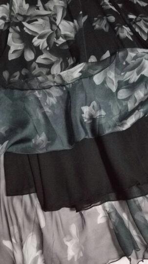 朵艾丝 波西米亚大摆裙碎花半身裙长款雪纺半身长裙 中长款2018春夏季海边度假沙滩裙松紧腰A字裙伞裙 枫叶馨语杏 M 晒单图