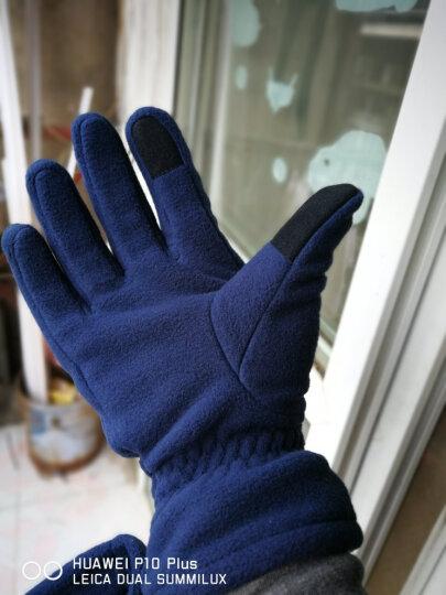 诺诗兰(NORTHLAND)保暖手套中性户外休闲防风透气抓绒可触摸屏 A060530 灰石蓝色 M 晒单图
