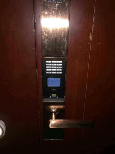 松下/Panasonic电子指纹锁 智能密码锁 家用防盗门锁 门禁锁芯V-N630C/L 古铜色 左开门 有天地钩 晒单图