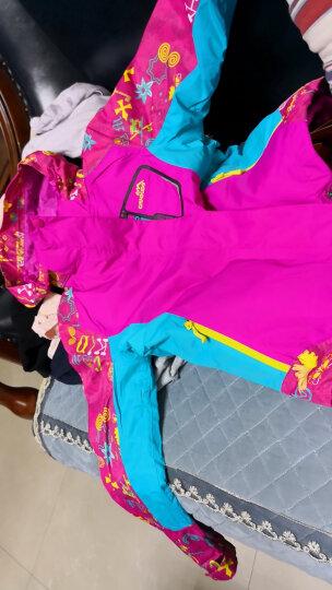 CAMKIDS 垦牧冲锋衣女童秋冬装外套儿童户外抓绒保暖两件套冲锋衣 彩蓝 150 晒单图