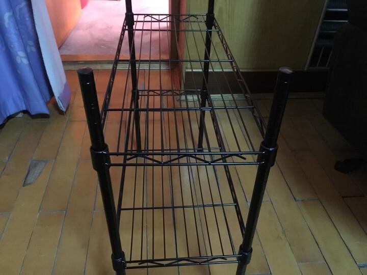心家宜 碳钢花架子 多层铁艺花盆架 防锈阳台落地层架 阶梯置物架 经典黑 晒单图