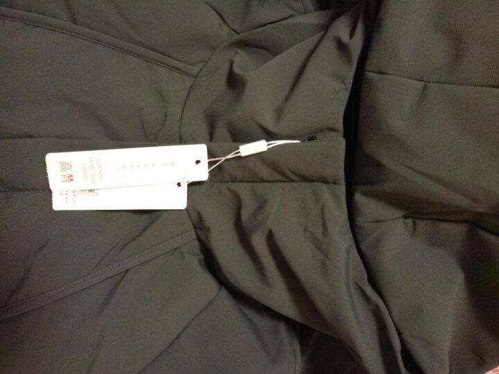 高梵 羽绒服男装2018冬季韩版时尚加厚保暖轻薄连帽中长款羽绒外套男 黑色 180/XL 晒单图