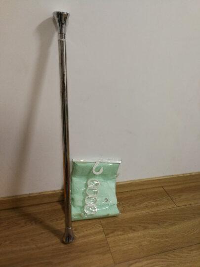 宏明浴帘杆不锈钢伸缩杆免打孔可做毛巾杆窗帘杆晾衣杆 光亮头挂杆可做窗帘杆 85-150cm限90-130内使用 晒单图