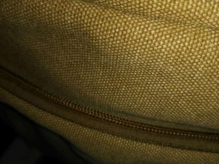 满江红帆布男包单肩包休闲斜挎包包男士小包肩包简约背包多功能时尚复古迷你包 经典浅卡其色 晒单图