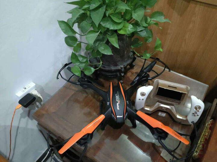 优迪 遥控飞机大型专业航拍无人机高清FPV航拍器遥控玩具飞机四轴航模飞行器图传航拍无人机 (三电版)带200W摄像头+图传显示器 晒单图