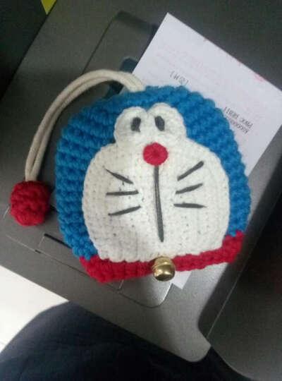 漫羽客   韩国新款时尚钥匙包女 可爱卡通动物毛线抽拉式钥匙包 复古蓝色哆啦a梦 晒单图