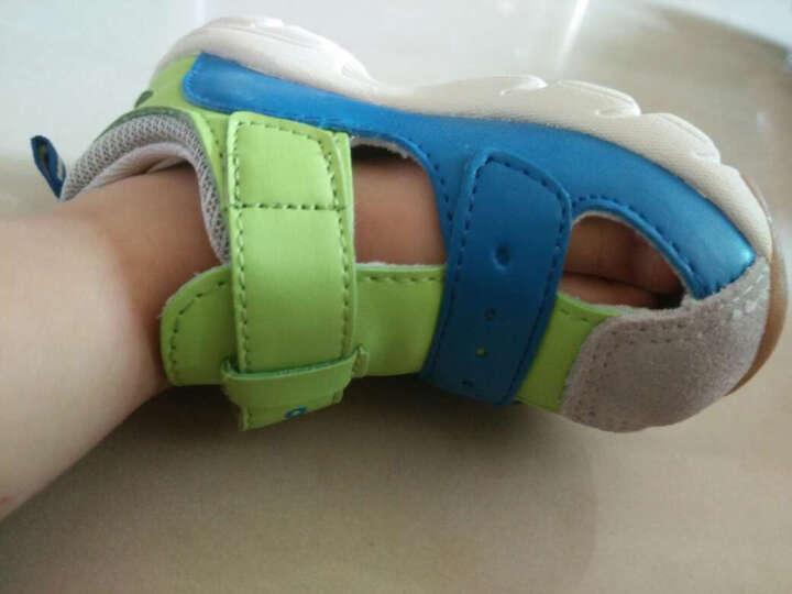 meeno萌诺 1-6岁儿童鞋 夏款机能鞋 儿童凉鞋男童学步鞋女童凉鞋 蓝色 24码/15.6cm/参考年龄2-3岁 晒单图