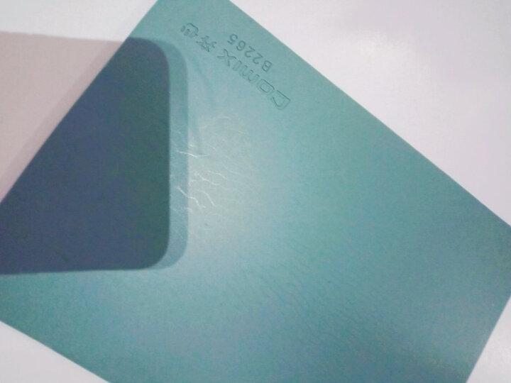 齐心(COMIX)180mm财务方形印章垫/橡胶垫/敲章垫/盖章垫 办公用品 绿色B2265 晒单图