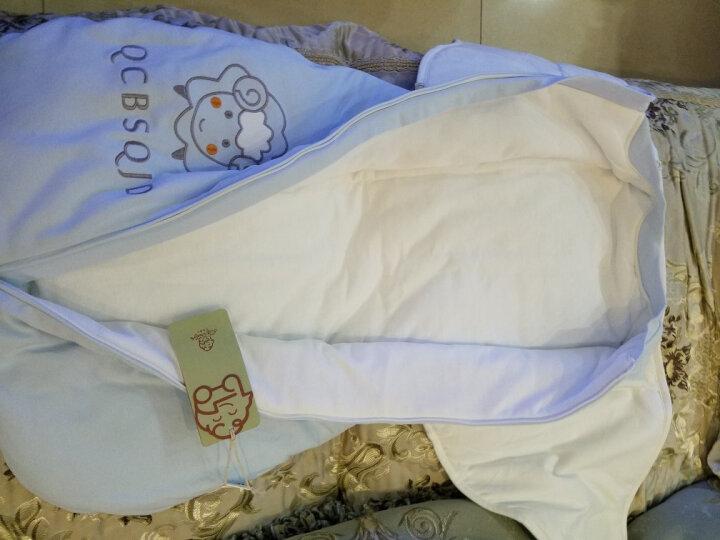 七彩博士 婴儿睡袋新生儿防惊跳睡袋宝宝0-6-12个月纯棉抱被儿童秋冬款防踢被 小羊蓝色【加厚】 晒单图