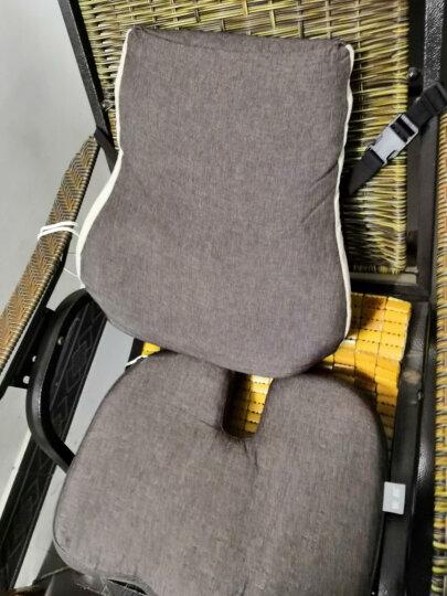 昕科护腰靠垫办公室腰枕座椅靠垫靠枕记忆棉孕妇电热靠背 腰靠坐垫套装-米色 晒单图