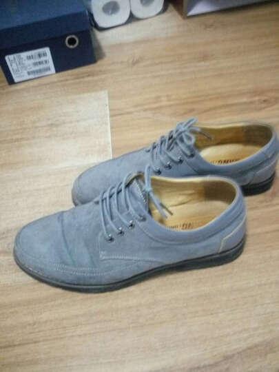 康龙男鞋子 时尚日常透气英伦风流行休闲鞋 灰色253114309 43 晒单图