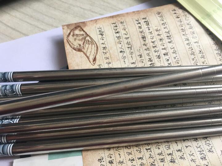 春笑 中国风青花瓷不锈钢中空螺纹防滑筷子 5双装+陶瓷刀两件套 晒单图