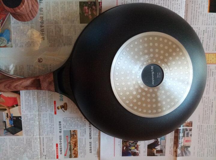 九阳(Joyoung)炒锅不粘锅30cm麦饭石色少油烟电磁炉燃煤气通用煎锅锅具CLB3053D 晒单图