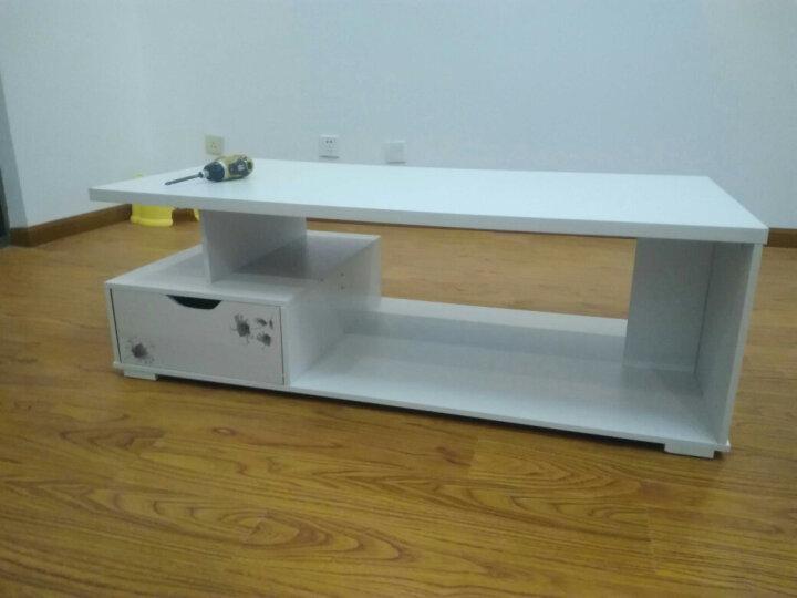 爱佳德简约现代电视柜柜可伸缩钢化玻璃厅柜茶几电视机柜 G120-190CM暖白+欣欣向荣+白玻璃 晒单图