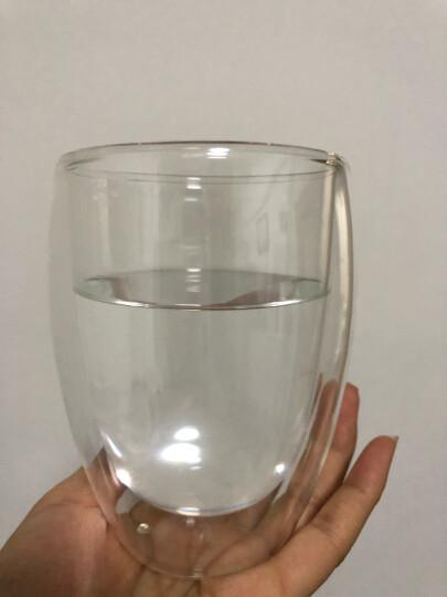 KARPHOME卡普家居耐热玻璃杯双层家用泡茶杯办公室防烫手喝水杯饮料牛奶果汁杯子杯架套装 2只装350ML 晒单图