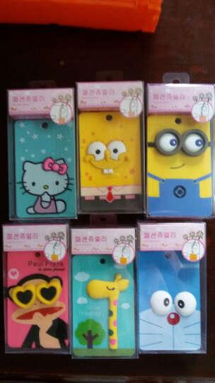 立体韩国可爱动物公交银行卡套 带钥匙扣学生卡套 卡通便携式公交卡套 玫红色大嘴猴 晒单图