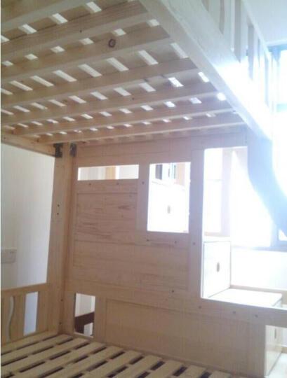 大梵林 儿童床 松木高低床子母床 实木双层床上下铺床 母子床带梯柜 组合床木架子床 双层床带梯柜 1200*1900 晒单图