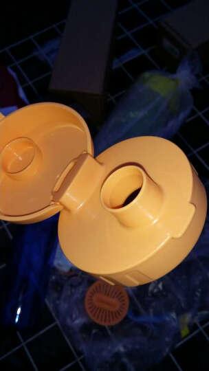 特百惠(Tupperware)轻盈茶韵塑料随心运动防漏水杯子 带拎绳茶隔茶杯 380ml活力粉 晒单图