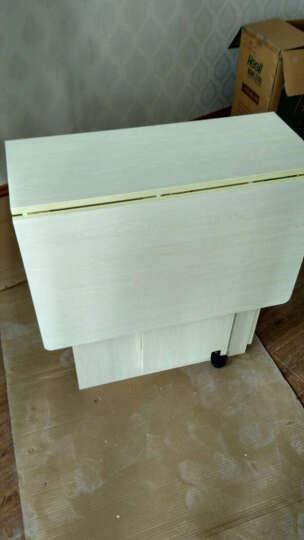 珍叶家私 新品小户型折叠餐桌餐椅套装一桌四凳可伸缩折叠简易餐桌椅组合SN5939 无椅款柚木色120*60桌面 长120 晒单图
