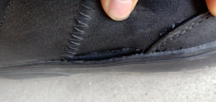 宸超(CHENCHAO) 男鞋商务休闲鞋子男2018秋冬季新款低帮增高板鞋休闲鞋男 1665D 黑色低帮 41 晒单图