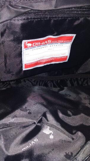 爱华仕(OIWAS)双肩包电脑包休闲背包学生书包男女 笔记本包15英寸大容量休闲户外运动包 4000黑色 晒单图