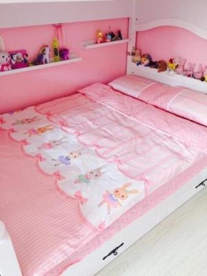 梦洁宝贝儿童家纺纯棉公主四件套床上三件套女孩套件卡通全棉学生床单被套 兔芭蕾 纯棉套件 1.2米床(150*200cm)三件套 晒单图