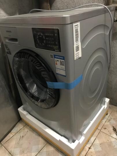 西门子(SIEMENS) 8公斤 变频滚筒洗衣机 环形触控 节能降噪 酷黑门圈(银色) XQG80-WM12L2E88W 晒单图