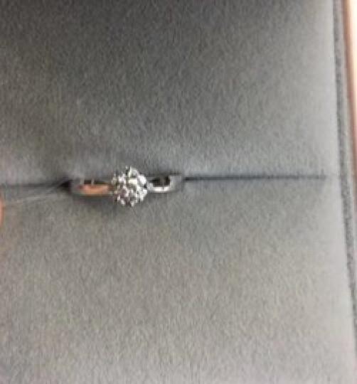 金石盟珠宝钻戒18K金钻石戒指女款结婚求婚订婚群镶钻戒幸福花园 主石15分  SI J 细戒臂 晒单图