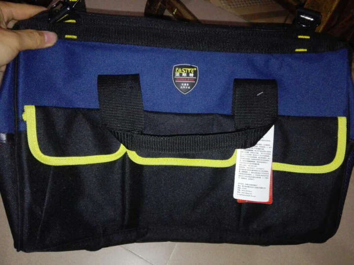 法斯特16寸工具包帆布多功能电工工具包维修包大号电工包工具袋 16寸蓝黑三代印 中国联通 晒单图