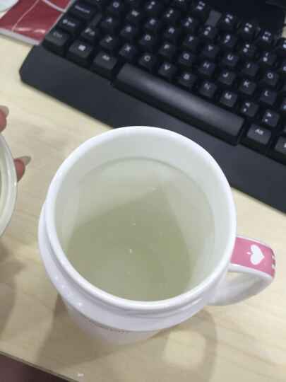 LICHEN 创意可爱 咖啡杯 卡通水杯 奶茶杯 牛奶咖啡杯 陶瓷杯 带盖 粉色 晒单图