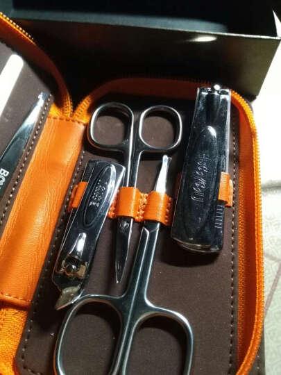 博友 多件组合美甲修甲套装眉剪鼻毛剪指甲刀指甲钳套装 橙色9件套BYS-2035 晒单图