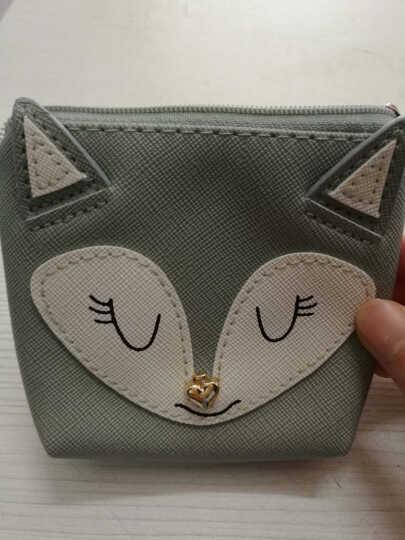 然锋 零钱包卡通可爱动物系列钥匙包硬币包短款钱包 BQ580171 灰狐狸 晒单图