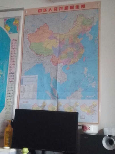 竖版中国地图挂图2015新版1.08米*0.73米中华人民共和国贴图 晒单图