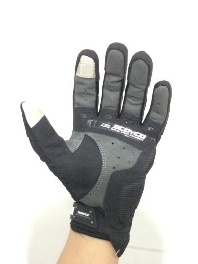 SCOYCO赛羽 摩托车越野车赛车碳纤手套 摩旅骑行手套 夏季清凉透气防护手套 MC20 黑色 L 晒单图