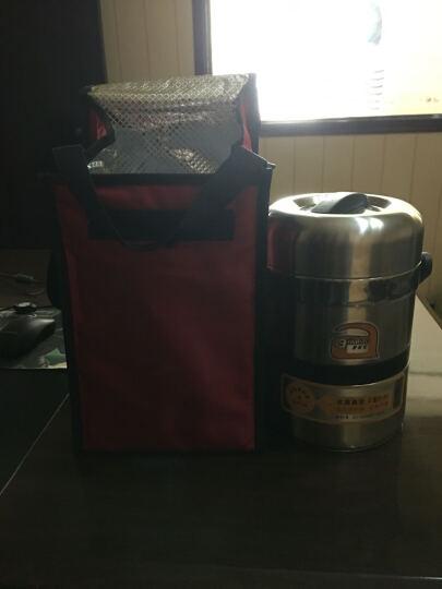 爱家宝 加厚便携保温袋  焖烧锅保温桶专用 黑色 小号 晒单图